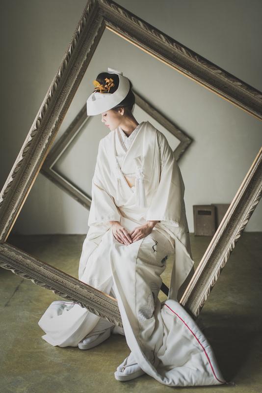 白無垢×角隠し