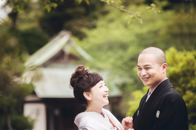 白無垢で和装前撮りされた先輩花嫁さま