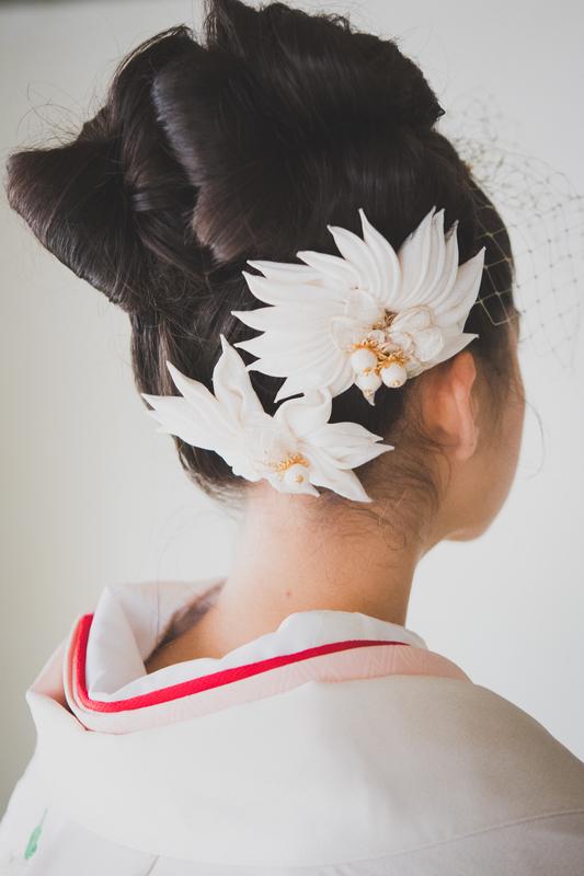色打掛×洋髪とヘッドドレス