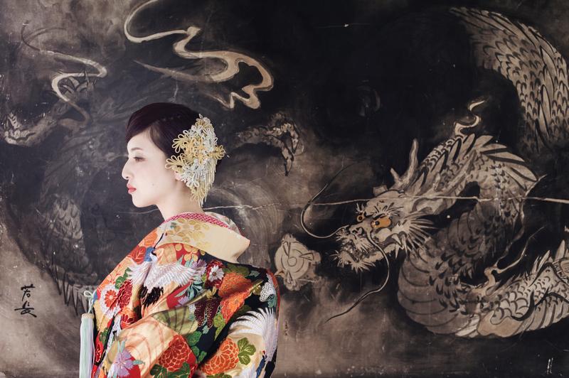 龍口寺で前撮りされた先輩花嫁さま