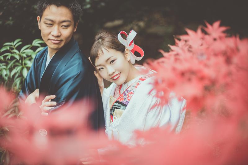 CUCURUフォトプランでロケーション撮影をされた和装花嫁さまをご紹介いたします(白無垢)