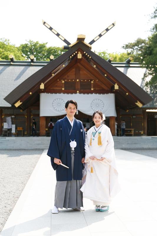 北海道神宮で挙式をされた和装花嫁さまをご紹介いたします(白無垢)