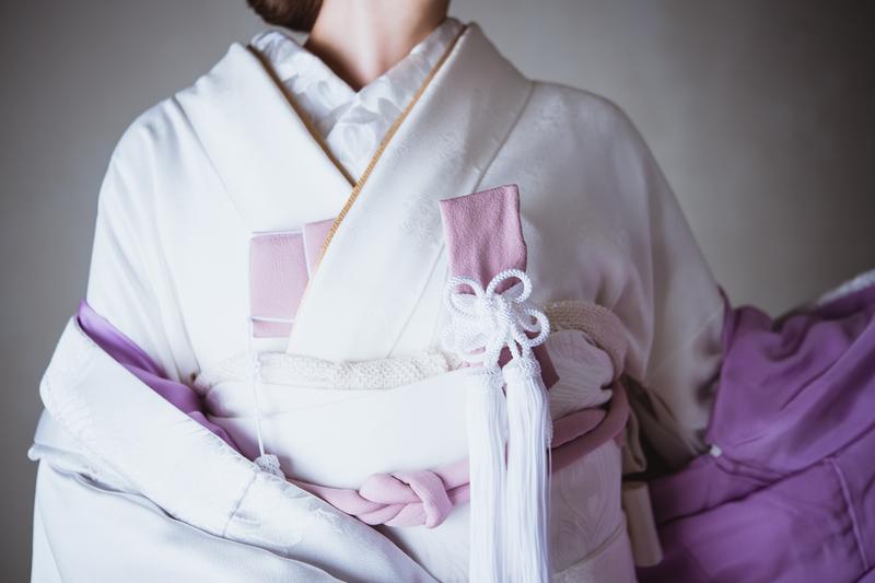 CUCURUオリジナル色無垢:白藤染め