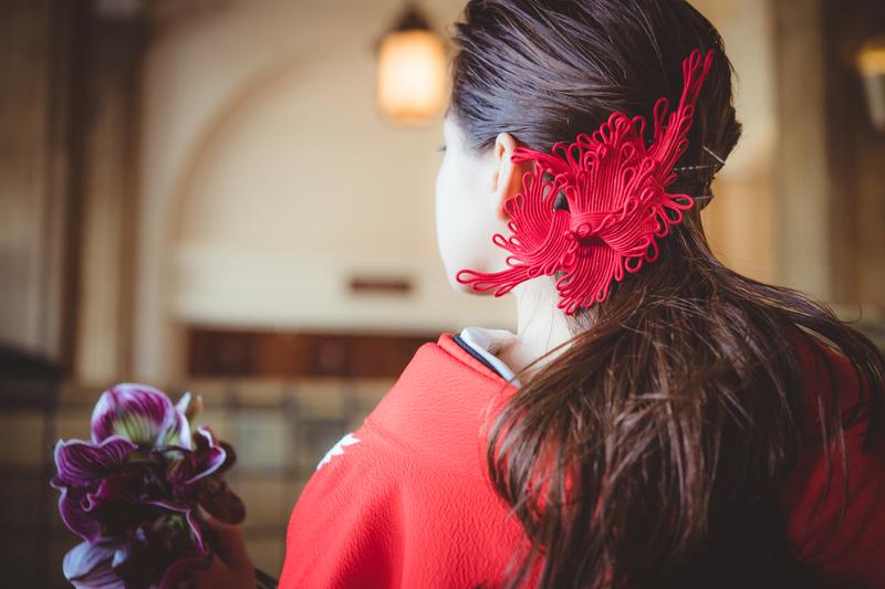 洋髪にも合う和風なヘッドドレスで簡単にイメージチェンジ