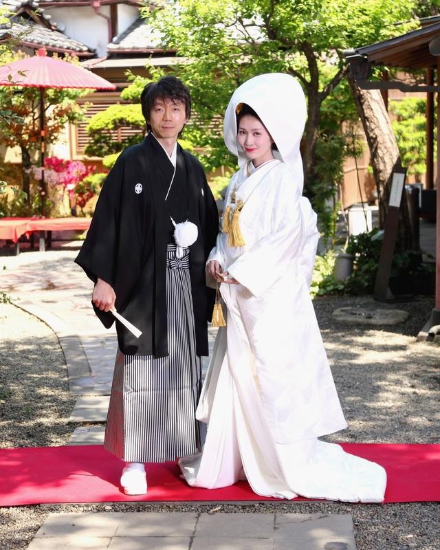 玉屋でお式を挙げられた和装花嫁さまをご紹介させていただきます(白無垢&角隠し→色打掛)