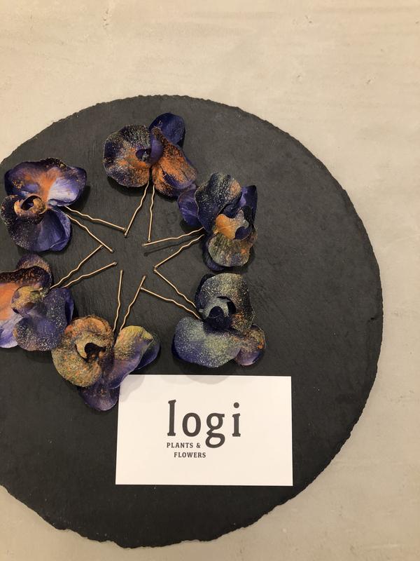 CUCURU × logi PLANTS&FLOWERS『染めの花』結婚式だけでなく、ゆかたやご参列のお着物にも合わせて使えるヘッドピースです