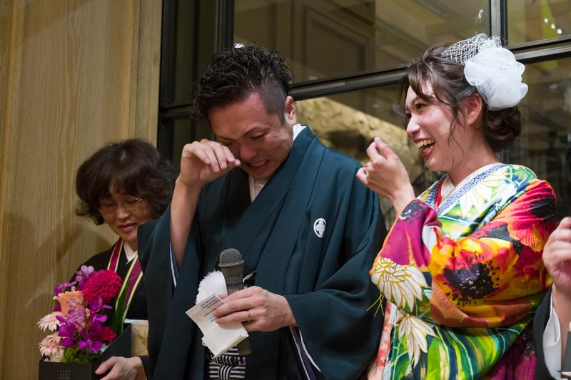 テンダーハウスにて挙式をされた和装花嫁さまをご紹介いたします(色打掛)