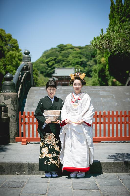 鶴岡八幡宮で神前式をされた花嫁さまをご紹介いたします(白無垢)