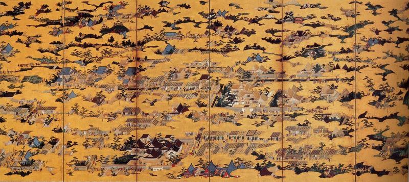 狩野永徳『洛中洛外図』に描かれている雲