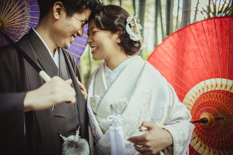 白無垢でロケーション撮影をされた先輩花嫁さまをご紹介いたします。- CUCURUフォトプラン