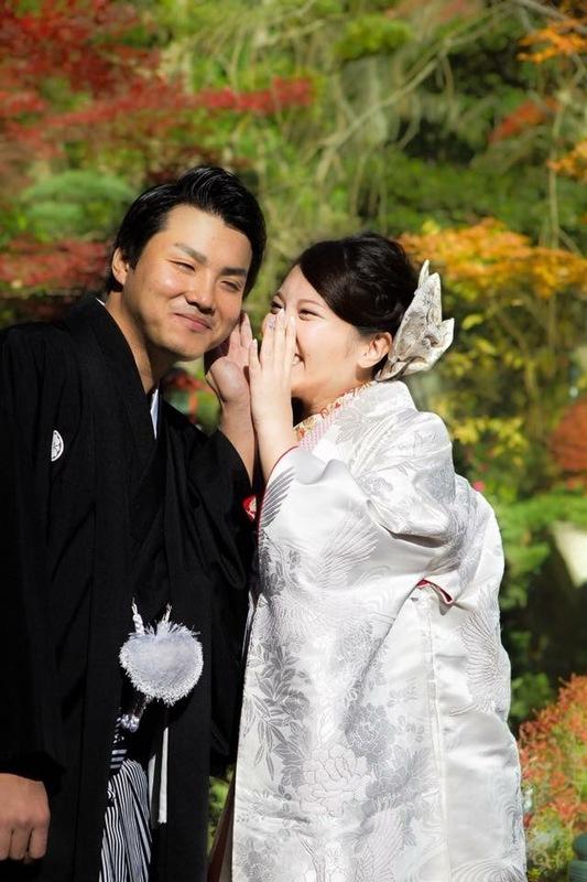 白無垢姿が可愛らしい先輩花嫁さま