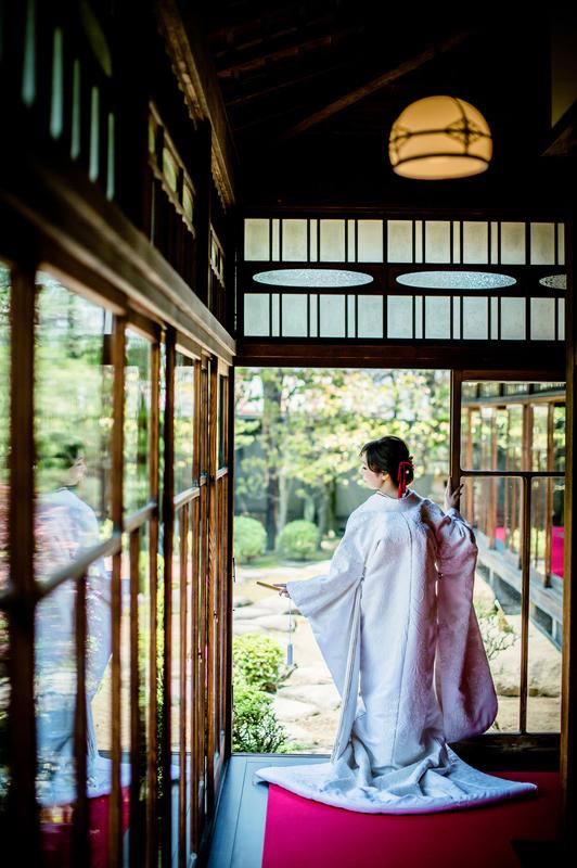 白無垢で前撮りされた先輩花嫁さま