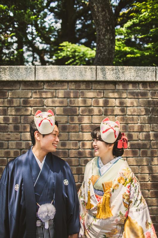 色打掛で前撮りをされた先輩花嫁さま