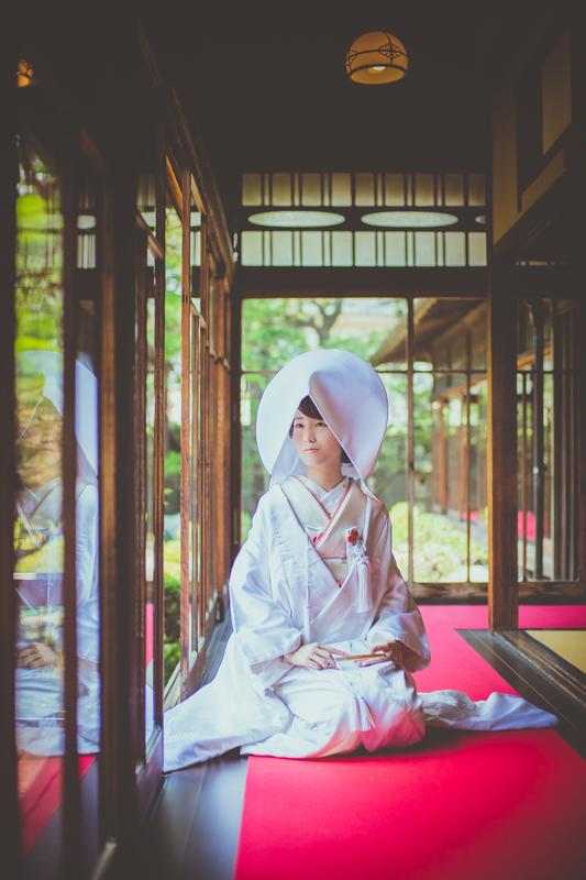 白無垢に綿帽子で前撮りされた先輩花嫁さま