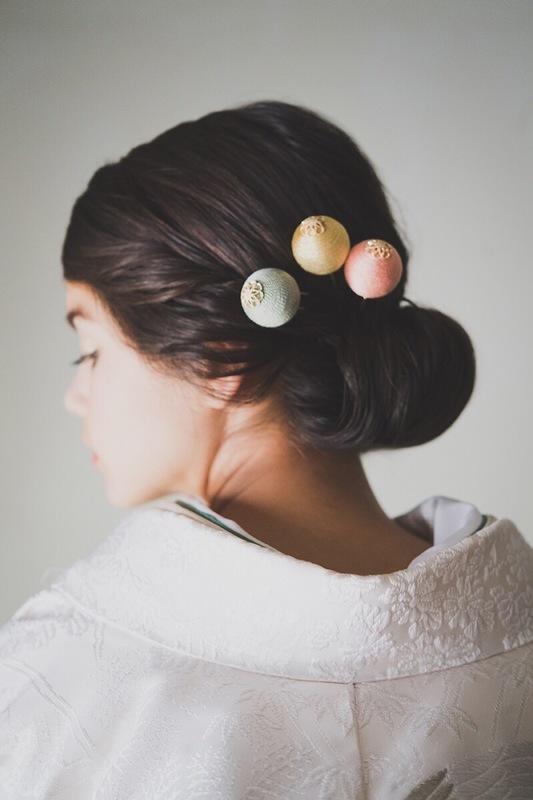 白無垢×洋髪に簪