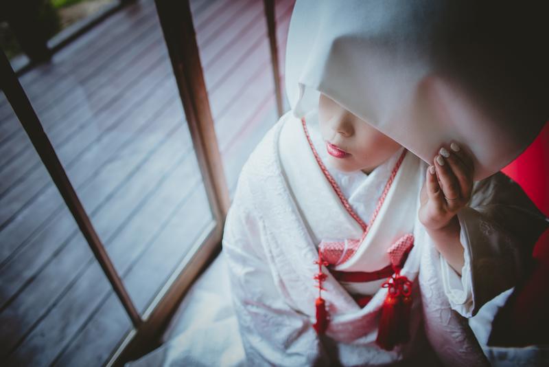 CUCURUフォトプランで撮影された和装花嫁さまをご紹介いたします(白無垢・綿帽子)