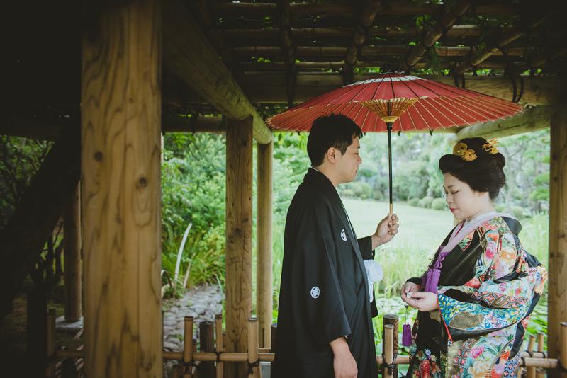 CUCURUフォトプランで撮影された和装花嫁さまをご紹介いたします(白無垢・色打掛):色打掛コーディネート