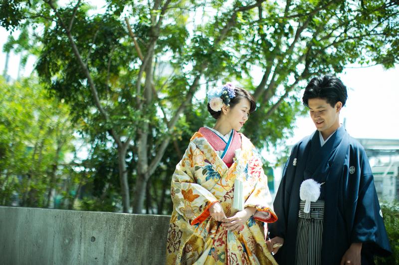 色打掛で披露宴をされた和装花嫁さまをご紹介いたします:色打掛で当日のお式をむかえられた先輩花嫁さま