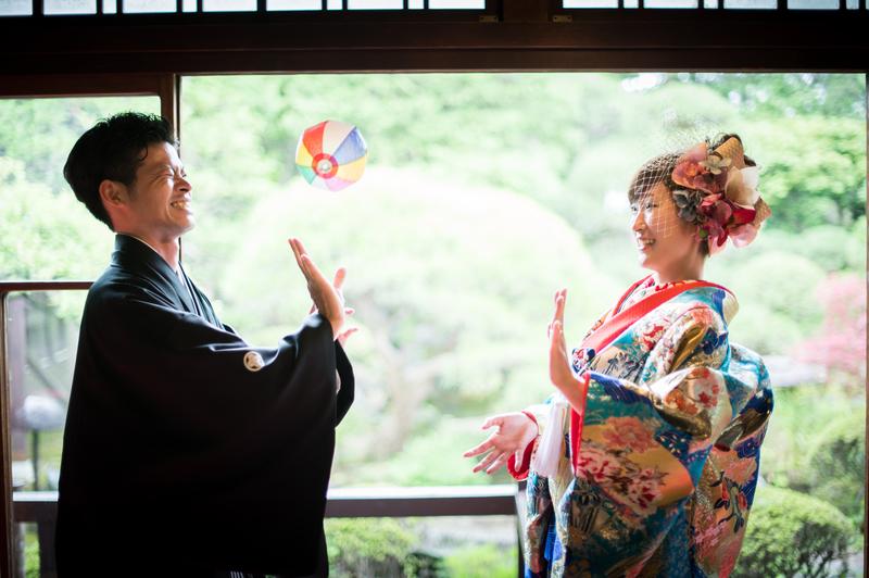 色打掛で前撮りされた先輩花嫁さま
