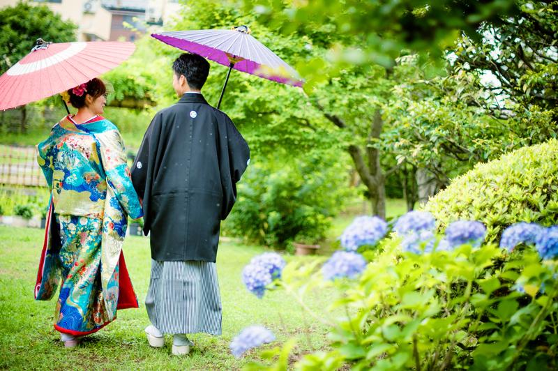 CUCURUフォトプランでロケーション撮影をされた和装花嫁さまのご紹介(色打掛)