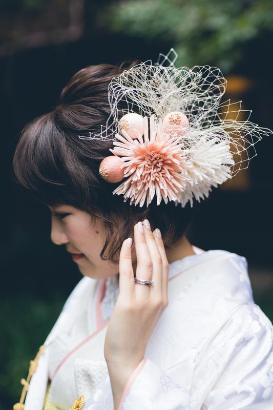 淡いお色味の白無垢×春色コーディネート
