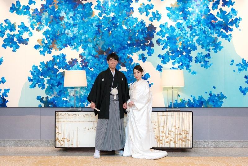 白無垢を着てパレスホテル東京でお式をされた先輩花嫁さま