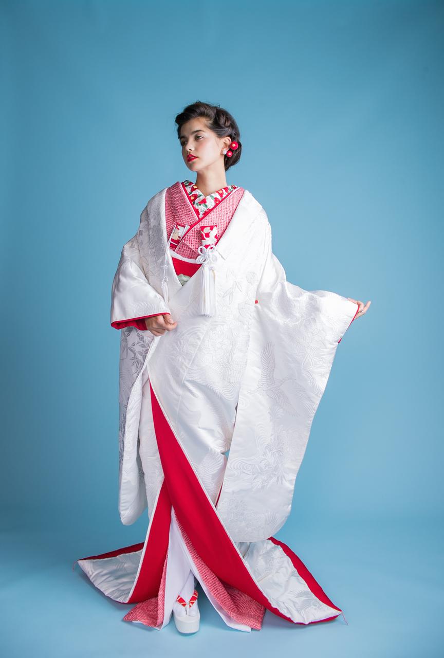 相良刺繍四季花流水鶴