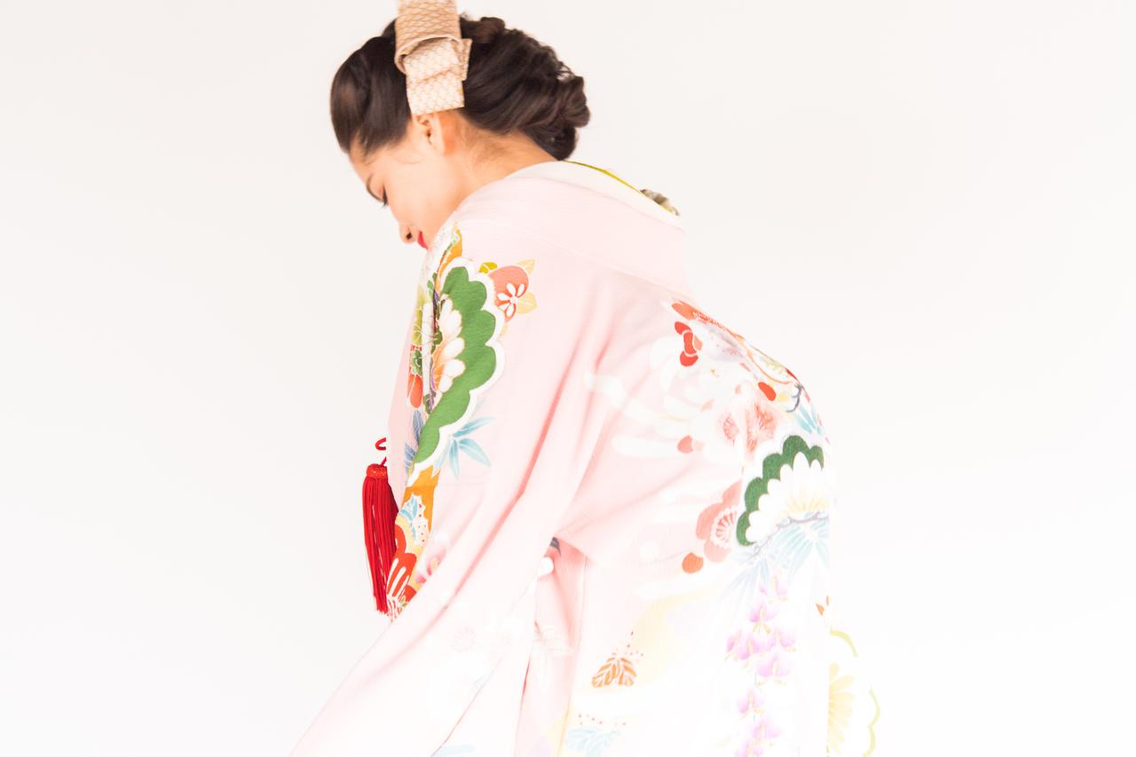 桃色刺繍花車
